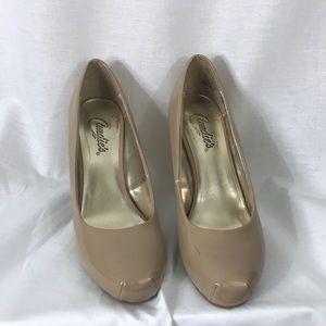"Candie's size 7, 3"" heels"